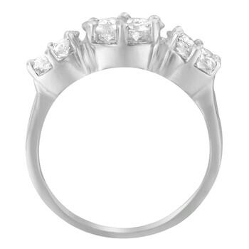 Trang sức Haus Of Brilliance Vàng trắng 14K 1 5/8ct TDW Round Kim cương Cluster Nhẫn (G-H