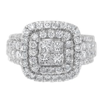 Trang sức Haus Of Brilliance Vàng trắng 14K 2 1/4ct TDW Round và Princess Kim cương Nhẫn (H-I