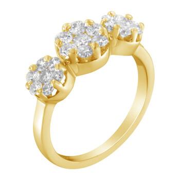 Trang sức Haus Of Brilliance Vàng 14K 1 1/4ct TDW Round-cut Kim cương Cluster Nhẫn (H-I