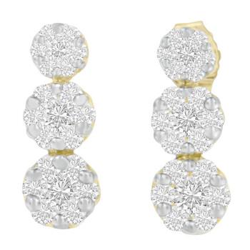 Trang sức Haus Of Brilliance Vàng 14K 1 ct.TDW Kim cương Stud Earring(H-I