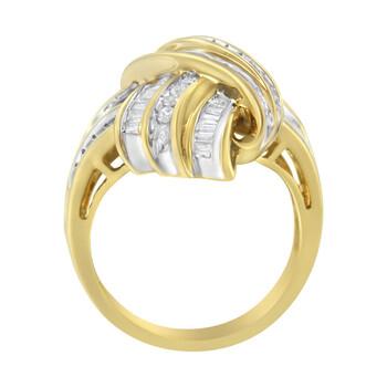 Trang sức Haus Of Brilliance Vàng 14K 1ct TDW Kim cương Bypass Nhẫn (H-I