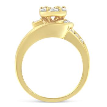 Trang sức Haus Of Brilliance Vàng 14K 1ct TDW Round Cut Kim cương Nhẫn thời trang (H-I