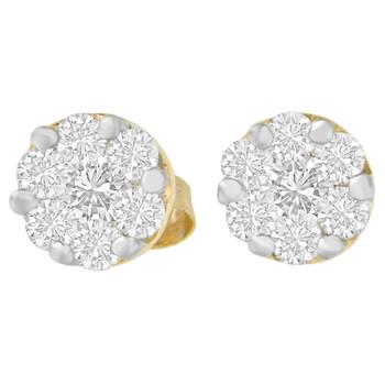 Trang sức Haus Of Brilliance Vàng 14K 3/4 ct.TDW Round-cut Kim cương Stud Earring(I-J