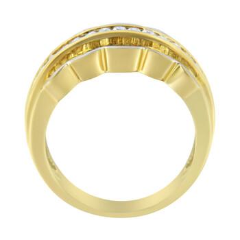 Trang sức Haus Of Brilliance 14kt Yellow và Vàng trắng 1 ct TDW Kim cương Modern Band Nhẫn (H-I