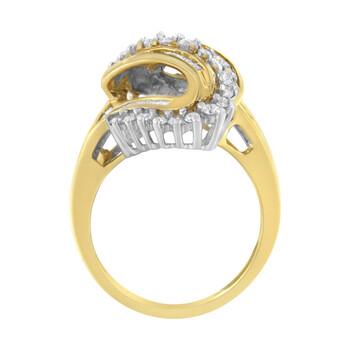 Trang sức Haus Of Brilliance 14kt Yellow và Vàng trắng 1ct TDW Kim cương Bypass Nhẫn (H-I