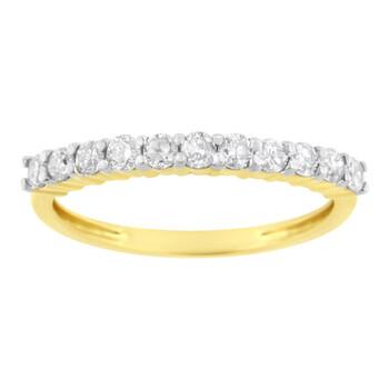 Trang sức Haus Of Brilliance IGI Certified Vàng 10K 1/2ct TDW Kim cương Band Nhẫn (J-K