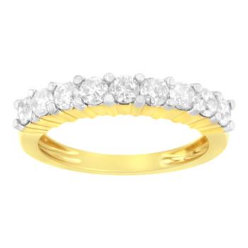 Trang sức Haus Of Brilliance IGI Certified Vàng 10K 1ct TDW Kim cương Band Nhẫn (J-K
