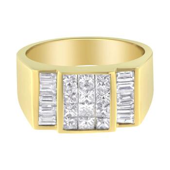 Trang sức Haus Of Brilliance Nam Vàng 14K 2 1/5 ct. TDW Kim cương Nhẫn (G-H