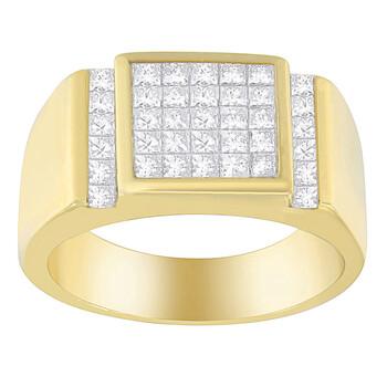 Trang sức Haus Of Brilliance Nam Vàng 14K 2 ct TDW Kim cương Cluster Nhẫn (G-H