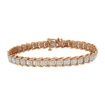 Trang sức Haus Of Brilliance Rose-mạ Bạc 925 2.00 ct TDW Kim cương Tennis Vòng đeo tay (I-J