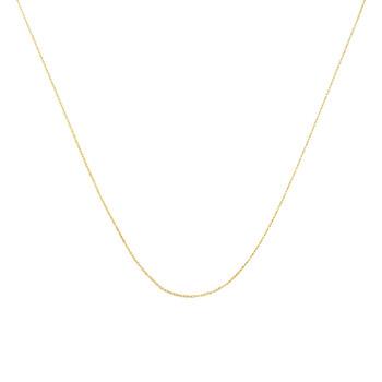 """Trang sức Haus Of Brilliance Solid Vàng 10K 0.5MM Rope Chain Dây chuyền (vòng cổ). Unisex Chain - Size 16"""" Inches chính hãng sale giá rẻ Hà nội TPHCM"""