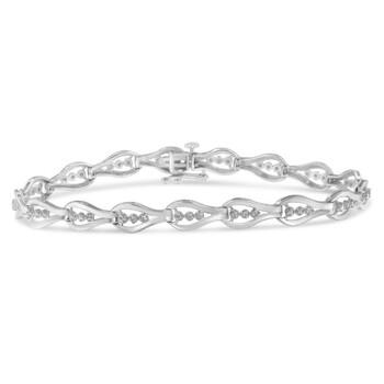 Trang sức Haus Of Brilliance Bạc 925 1/2ct TDW Kim cương Link Vòng đeo tay (I-J