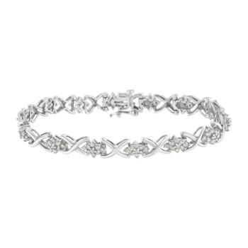 Trang sức Haus Of Brilliance Bạc 925 2 1/4ct TDW Kim cương Link Vòng đeo tay (I-J