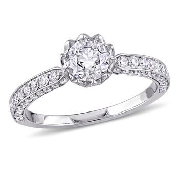 Trang sức Laura Ashley 1 1/4 CT Round Kim cương Bridal Nhẫn chính hãng sale giá rẻ Hà nội TPHCM