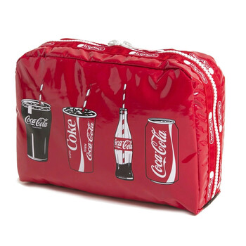 le sportsac coca cola rectangular cosmetic pouch 7121 g678