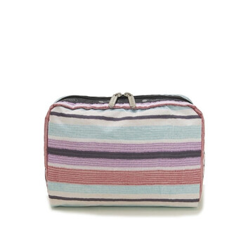 Le Sportsac Horizon Stripe đa màu sắc Extra size lớn hình chữ nhật túi đựng mỹ phẩm chính hãng đang sale giảm giá ở Hà nội TPHCM