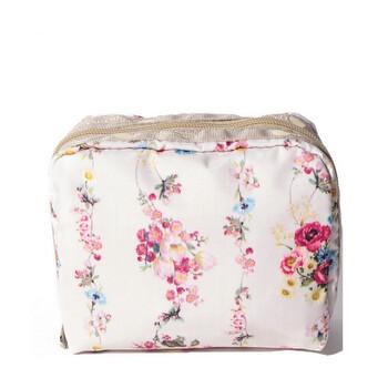 Le Sportsac Laelia Rose Garland Square túi đựng mỹ phẩm Chính hãng từ Mỹ