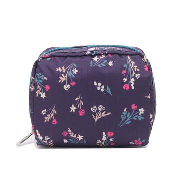 Le Sportsac Laelia Yucca Purple Bouquet Print Square túi đựng mỹ phẩm chính hãng đang sale giảm giá ở Hà nội TPHCM