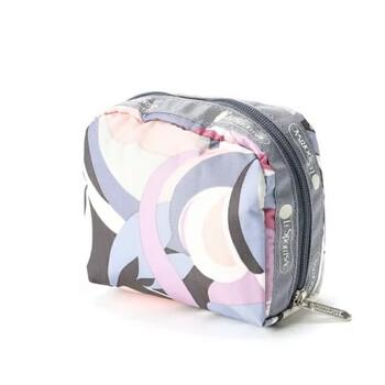 Le Sportsac Orchid Swirl Print Square túi đựng mỹ phẩm Chính hãng từ Mỹ