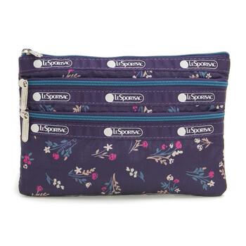 Le Sportsac Yucca Purple Bouquet 3 - zip túi đựng mỹ phẩm Chính hãng từ Mỹ