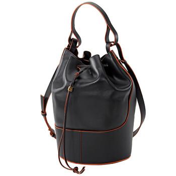 Loewe màu đen size lớn Balloon Bag Nappa Da bê Chính hãng từ Mỹ
