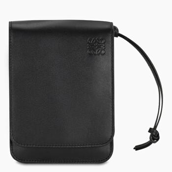 Loewe màu đen Smooth Da bê Flat Gusset Túi đeo chéo Chính hãng từ Mỹ