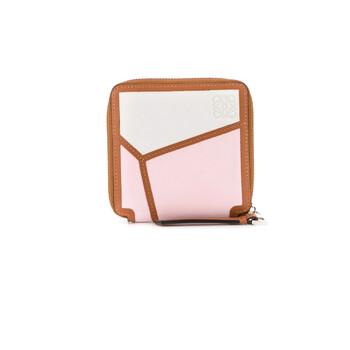 Loewe màu hồng Puzzle Square Zip Ví Chính hãng từ Mỹ