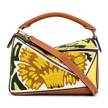 Loewe màu vàng Floral Puzzle Da Bag Chính hãng từ Mỹ