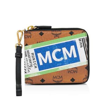 Mcm Visetos Flight Print size nhỏ Zip - around Ví chính hãng đang sale giảm giá ở Hà nội TPHCM