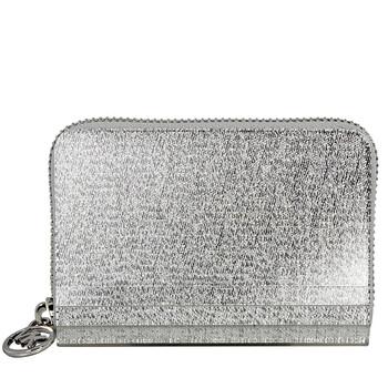 Michael Kors Barbara Zip Around Metallic Coin Case - Silver Chính hãng từ Mỹ