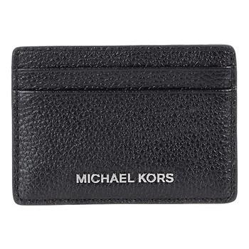 Michael Kors màu đen Logo Da Card Holder Chính hãng từ Mỹ