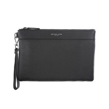 Michael Kors màu đen Pebbled Da Travel Zip Pouch chính hãng đang sale giảm giá ở Hà nội TPHCM