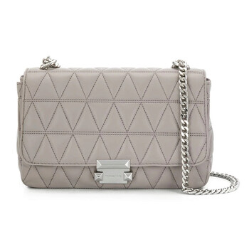 michael kors grey sloan large quilted shoulder bag 30s7ssll3l 081