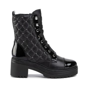 Giày Michael Kors nữ màu đen Tilda Lace-up Booties chính hãng