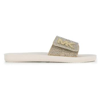 Giày Michael Kors nữ Crystal Embellishment MK Slides chính hãng
