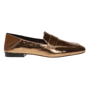Giày Michael Kors nữ Emory Leather Flats in Gold chính hãng