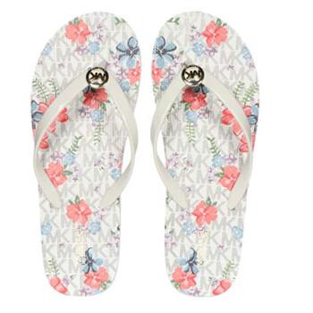 Giày Michael Kors nữ Jet Set Floral Logo Flip Flops chính hãng