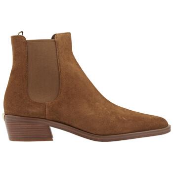 Giày Michael Kors nữ Lottie Brown Suede Ankle Boot chính hãng