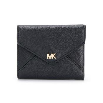 Michael Kors Nữ size trung Pebbled Da Envelope Ví màu đen Chính hãng từ Mỹ
