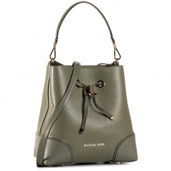 michael kors ladies pebbled leather mercer gallery shoulder bag in green 30f9gz5l1l 309