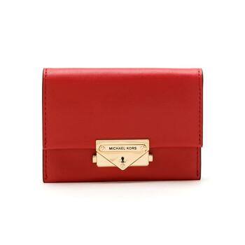 Michael Kors Nữ màu đỏ Cece size nhỏ Da đựng thẻ Chính hãng từ Mỹ
