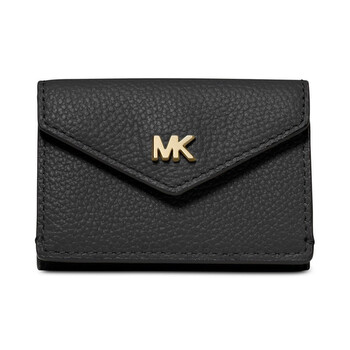 michael kors ladies small pebble leather tri fold flap wallet in black 32t9gf6e5l 001