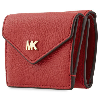 michael kors ladies small peeble leather tri fold flap wallet 32t9gf6e5l 683