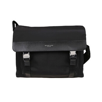 Michael Kors Nam màu đen Brooklyn Gabardine Nylon Messenger Bag Chính hãng từ Mỹ