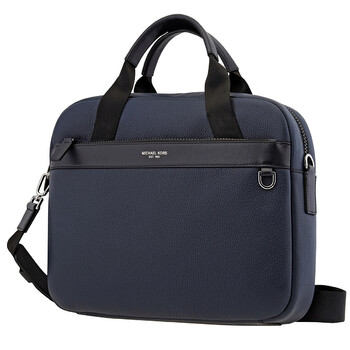 Michael Kors Nam Navy Greyson Slim Pebbled Da Briefcase
