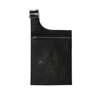 Misbhv màu đen Embossed Logo Envelope Túi đeo vai Chính hãng từ Mỹ