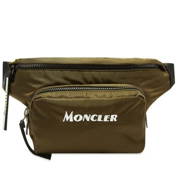 moncler nylon drill durance belt bag in military green f109a5m70210 02sb6 827
