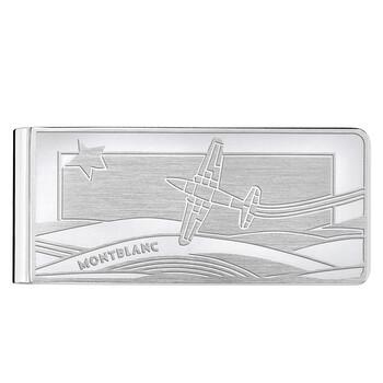 Montblanc Le Petit Prince Stainless Steel Silver Money Clip Chính hãng từ Mỹ