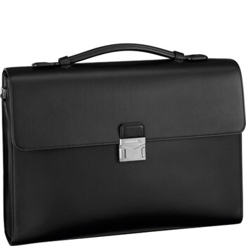 montblanc meisterstuck urban single gusset mens briefcase 124074