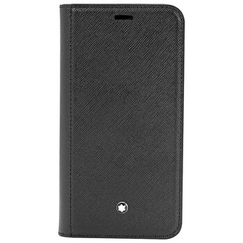 Montblanc Sartorial màu đen Flip Side Cover with Double Flap for Apple Iphone XS 124894 Chính hãng từ Mỹ